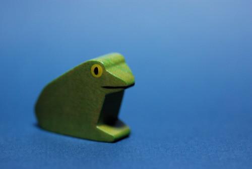 wooden frosch
