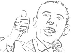 President Barack Obama Coloring Picture