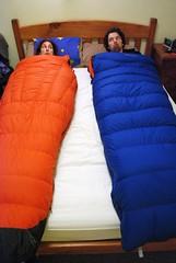 Zwei Schlafsäck