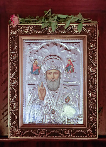Saint Nicholas Greek Orthodox Church, in Saint Louis, Missouri, USA - icon of Saint Nicholas