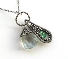 silver twin pendant