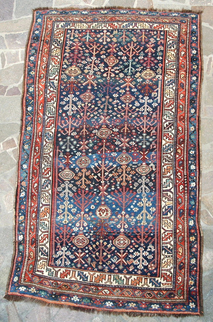 Antique Kurdish village rug
