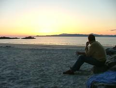 The thinker?? (Jez) on Camusdarach beach (Steve Boocock) Tags: scotland morar eigg camusdarach