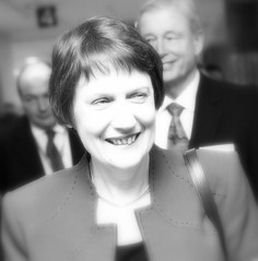rather glowing photo of former NZ prime minister Helen Clark