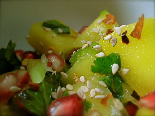 mango-pomegranate salad