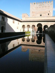 Palacio Nazaries (rwchicago) Tags: abstract reflection geometric fountain pool architecture garden spain pattern geometry muslim arches palace andalucia unescoworldheritagesite arabic alhambra granada lightandshadow islamic mudjar nasrid andalucian palacionazaries