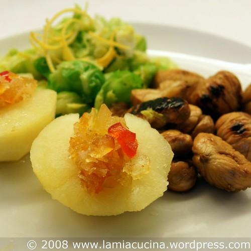 Marroni, Rosenkohl und Senffruchtapfel