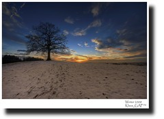 Tree & Sunset (Klaus_GAP - taking a timeout) Tags: blue schnee sunset sky panorama snow tree clouds germany geotagged bayern deutschland bavaria sonnenuntergang hill himmel wolken baum hdr hdri mnsing photomatix abigfave platinumphoto theunforgettablepictures goldstaraward
