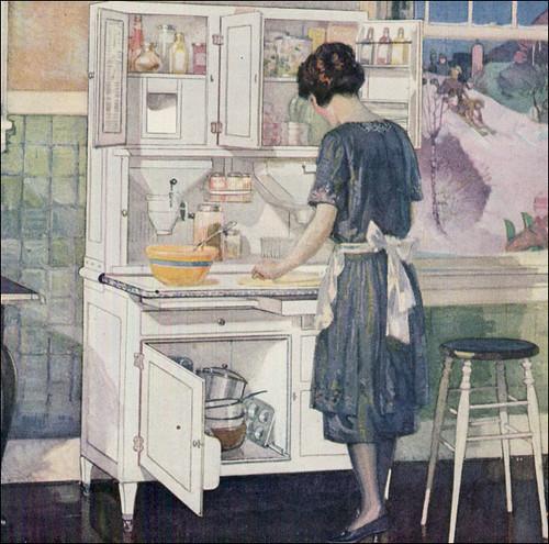 1922 Hoosier Ad Artwork originally uploaded by American Vintage Home. & Vintage Ads: Hoosier cabinet 1922