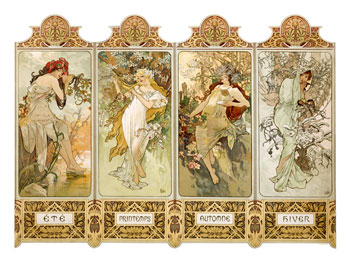 Seasons, 1896 - A. Mucha