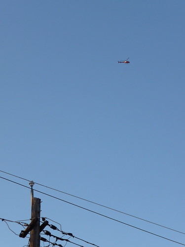 blagojevich house. FOX News helicopter hovering near Blagojevich#39;s house