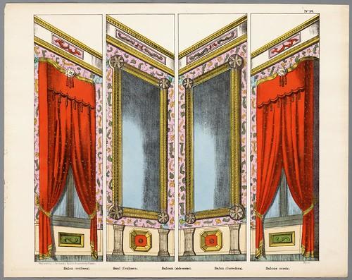 003- Cuatro decorados para escenas de teatro