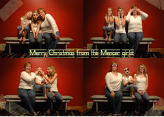 us-0040-2 (hlmencer) Tags: christmas family red silly love goofy sisters mom happy football daughters portraiture goofballs mencer barnbench