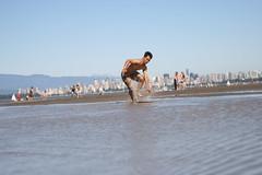 Andy Skim Boarding 1 (photos.by.ed) Tags: beach vancouver spanishbanks skimboarding