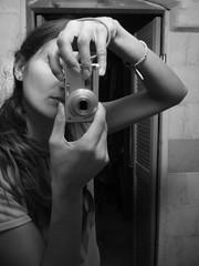 i miei occhi (luana183) Tags: bw woman girl lumix mirror donna hands digitale mani bn porta bianconero viso ragazza specchio capelli braccia panazonic luana183 mirrorser