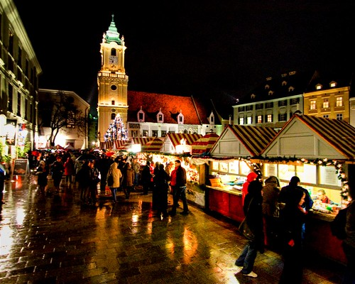 Bratislava christmas market, by -12ºC