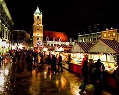 bratislava christmas market (-12C) Tags: christmas travel reflection night market christmasmarket rainy slovakia jul br