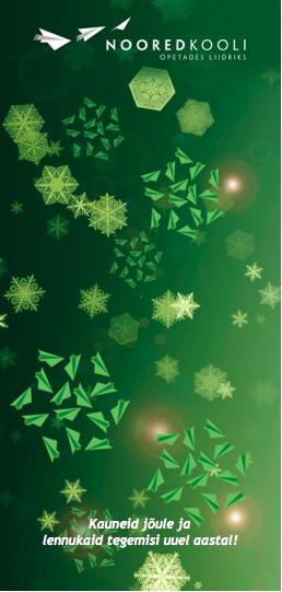 Noored Kooli jõulukaart