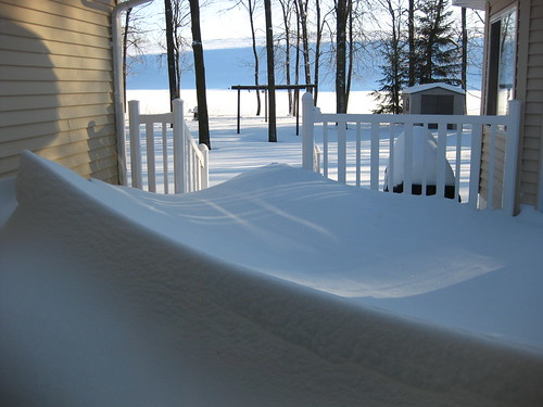 snow drifts at parent's house