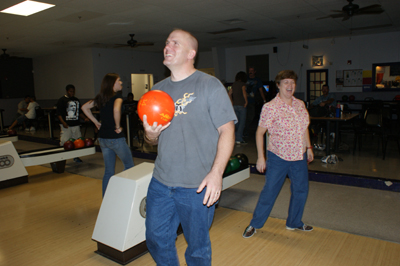 Mike_Debbie bowling
