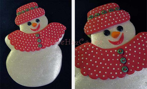 Snowgirl Christmas Cookie