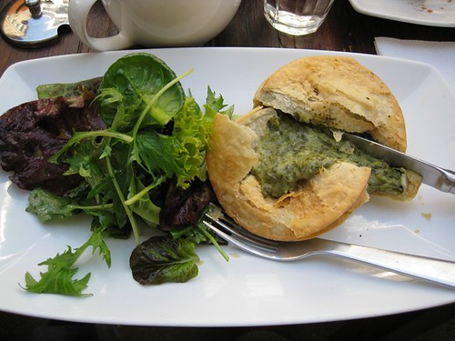 Spinach and cheese pie at Single Origin, Surry Hills