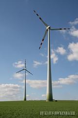 Enercon E70 windfarm Kettlasbrunn, Austria (Rockenbauer K.) Tags: blue sky cloud green field austria sterreich energy power wind energie feld himmel wolke electricity grn blau strom turbine windfarm acker elektrizitt e70 enercon