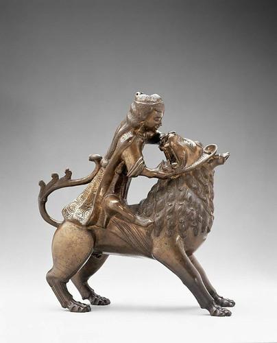 002 Samson y el león Aguamanil- Alemania del Norte-finales s. XIII-© 2009 Museum of Fine Arts, Boston