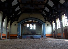 St Johns Asylum - The Ballroom (ricklus) Tags: county uk urban abandoned st hospital lens nikon zoom decay lincolnshire f bracebridge heath mm 1855mm nikkor 18 55 exploration lunatic asylum johns decayed decaying dx urbex pauper mids f3556 d40 zoomnikkor urbexing ricklus bbcheadroom midsurbexing soundsmental
