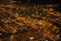 Downtown Chicago at night (San Diego Shooter) Tags: city nightphotography wallpaper chicago illinois cityscape sandiego cities chicagoatnight cityatnight downtownchicago desktopwallpaper sandiegodesktopwallpaper