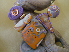 Trade Route (julie_picarello) Tags: house yellow beads julie jewelry clay copper designs rivet polymer gane mokume picarello