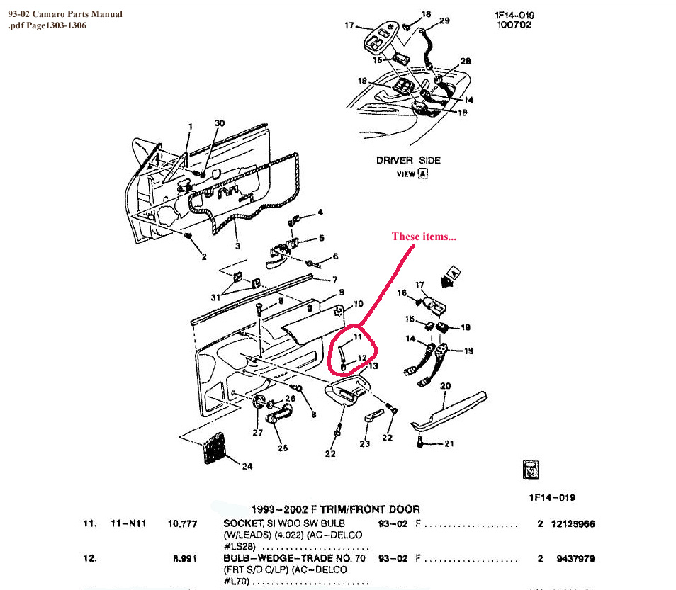 Subaru Rochester Ny >> Help with door handle light... - Camaro Zone - Camaro Forums and News