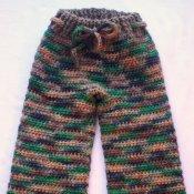 Crocheted Corriedale Wool Longies (med/lrg)