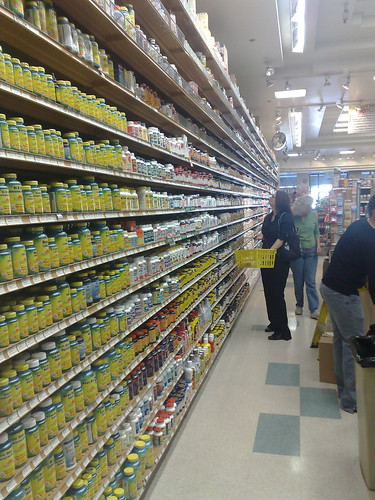 TOO MUCH CHOICE! Photo of Lobelia in Mother's health food store, Costa Mesa, California, by steve lawson