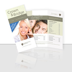 Crown and Bridge Brochure (ben.bibikov) Tags: bridge woman beautiful smile smiling marketing flyer lab couple dental business company identity laboratory crown fold tri brochure trifold threefold babichenko bibikovacom bibikova bibikov crownandbridge feeschedule