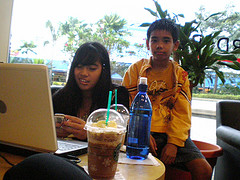 starbucks @ borders, the curve