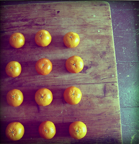 tangerines in a row