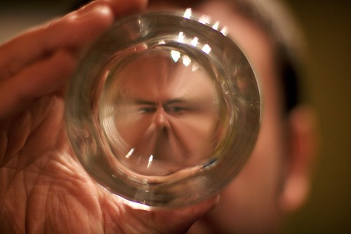 Self Portrait In The Bottom Of A Glass