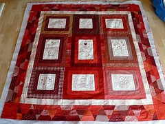 cotton country quilt-top