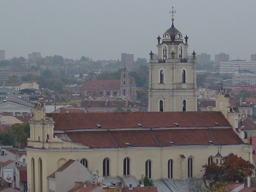 St. Johns' Church from Gediminas Castle