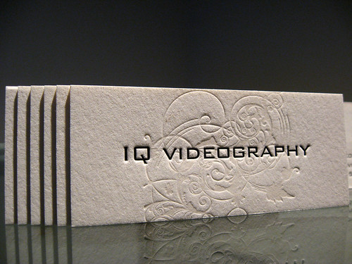 IQ Videography Letterpress Cards