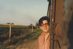 Eddie K on a September 1985 20th Century Railroad Club train excursion.