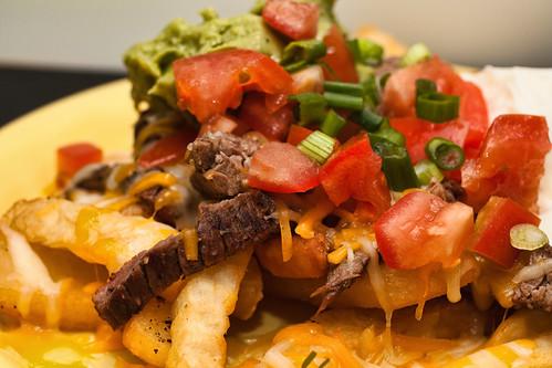 Carne Asada Fries - closeup