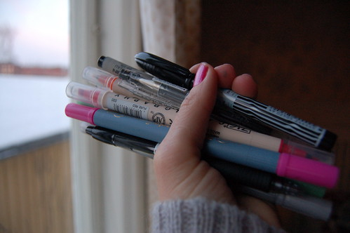 New pens for Christmas (copyright Hanna Andersson)