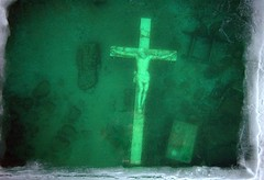 Petoskey Crucifix (snapstill studio) Tags: cross michigan lakemichigan crucifix petoskey littletraversebay