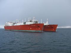 2007_0122hogmanyandtanker0016 (breeksy2002) Tags: sea water orkney ship lpg scapaflow shiptoship