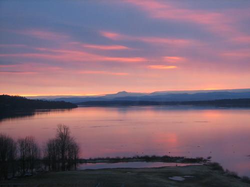 dawn over Lake Champlain