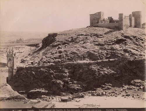 Castillo de San Servando (Toledo) a finales del siglo XIX. Fotografía de Rafael Garzón