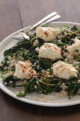 spinach, pearl barley & ricotta salad