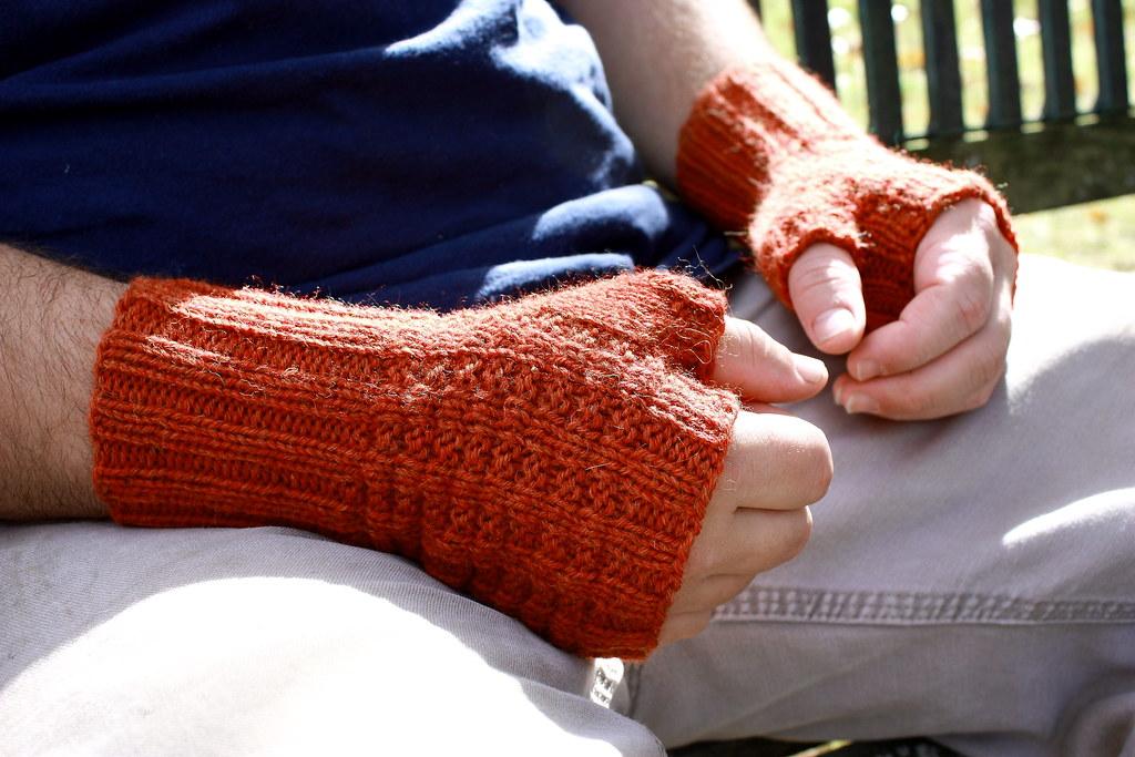 Pumpkin Waffle knitting